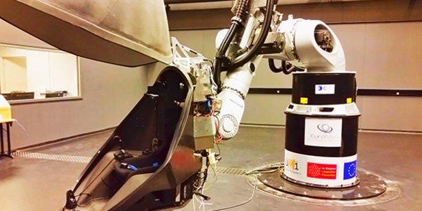 Le simulateur de mouvements iMose, au centre européen de recherche EuroMov, est utilisé par la start-up Semaxone.