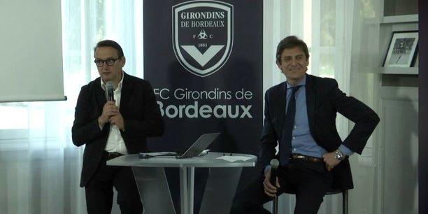 Anthony Tiodet, le directeur ticketing et hospitality, et Frédéric Longuépée, le président du club.