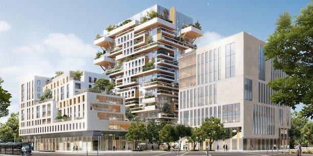 Hypérion revendiquera à sa livraison le statut de plus haute tour d'habitation en construction bois de France