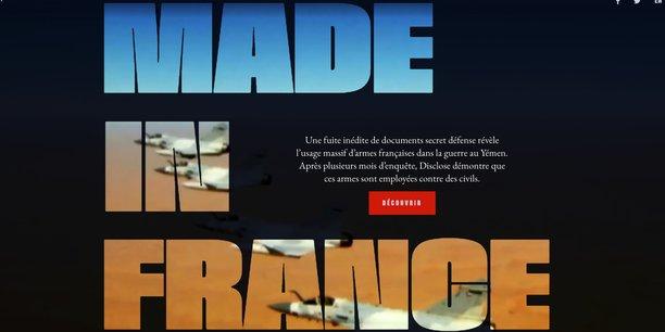 Une enquête sur un rapport émanant de la Direction du renseignement militaire (classé secret défense), à propos de l'utilisation d'armes de fabrication française dans la guerre du Yémen, a été publiée la semaine dernière conjointement par le site Disclose et la cellule d'investigation de Radio France, en partenariat avec plusieurs autres médias d'investigation.