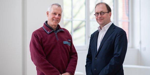 Philippe Raimbault (à droite), en compagnie de Nicholas Asher (qui a construit la structure scientifique du projet).