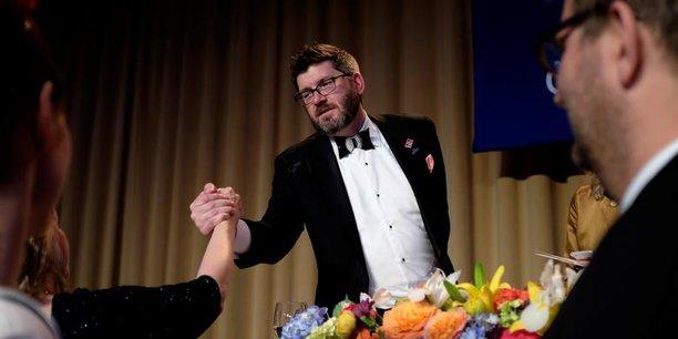 Le président de l'Association des correspondants de la Maison-Blanche, Olivier Knox, de SiriusXM.