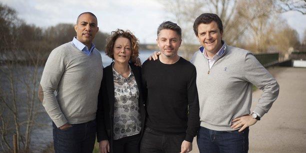 Les quatre cofondateurs, de gauche à droite : Frédéric Barclais, Fabienne Laborde, Ludovic Laborde et Jean-Christophe Boccon-Gibod.