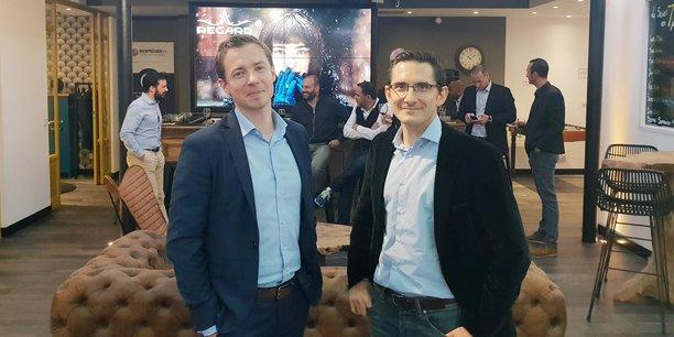 Rémi Pierre, responsable du bureau de Talan à Bordeaux, et Julien Weill, le directeur des opérations du groupe.