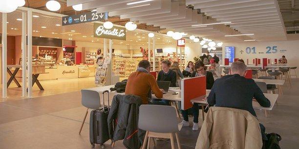 L'espace duty free et le salon connecté du nouveau terminal