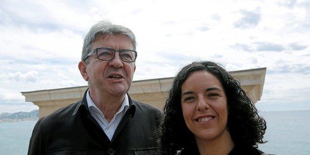 Jean-Luc Mélenchon et Manon Aubry.