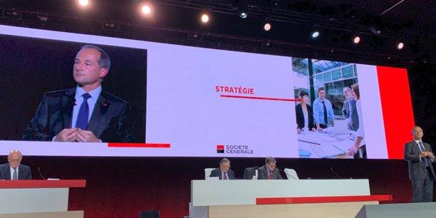 Frédéric Oudéa, le directeur général du groupe Société Générale, à l'assemblée générale des actionnaires ce mardi 21 mai.