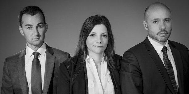 Associés fondateurs de La Centrale des SCPI : Lionel Benhamou, Véronique Baron, Grégorie Moulinier.;