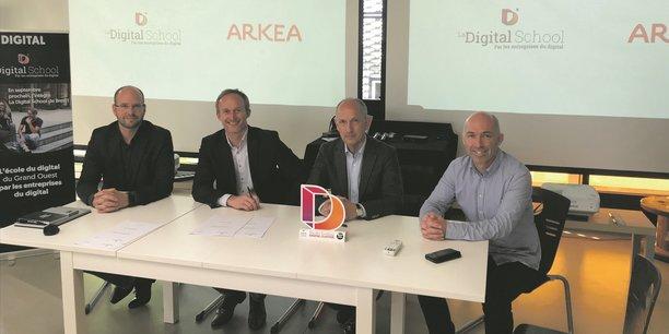 L'équipe de la Digital School qui se lancera en septembre.