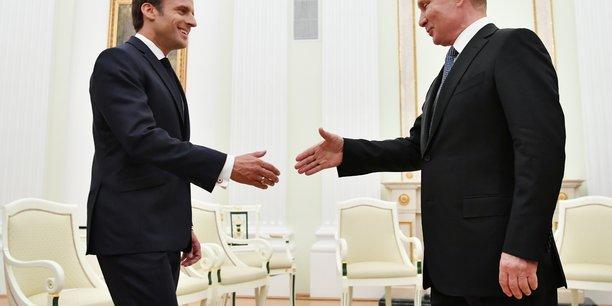 Macron souhaite reenclencher une dynamique avec poutine avant le g7[reuters.com]