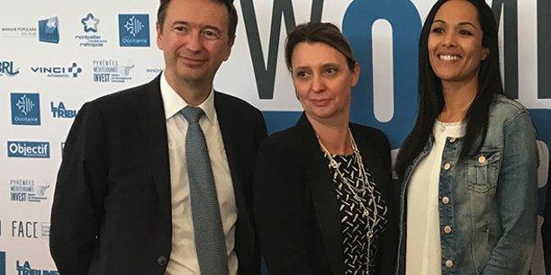 Jean-François Blanchet, Anne-Emmanuelle Rousseau et Najoua Arduini-El Atfani, lors des Women For Futur 2018.