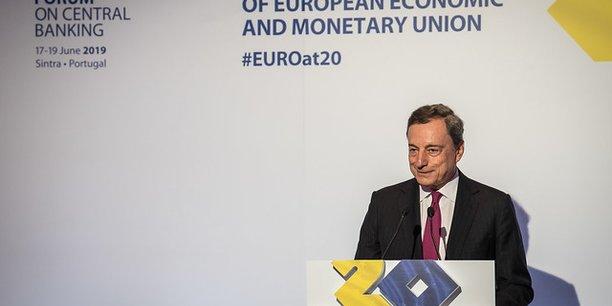 Mario Draghi, au Forum des banques centrales à Sintra, au Portugal, mardi 18 juin 2019.