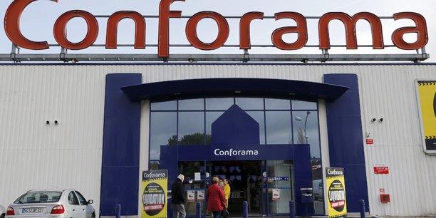 Une enseigne Conforama. La direction de l'entreprise a décidé, mardi 9 juillet, de révoquer son directeur général.