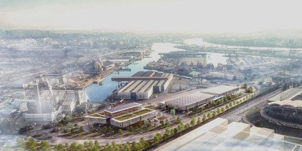 Implanté sur le port Edouard Herriot de Lyon, l'hôtel logistique sera opérationnel fin 2020.