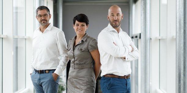 Anthony Bihan, Emmanuelle Legault, Jean-François Legault de Cadiou.