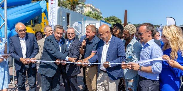 Cet après-midi (16 juillet 2019) à l'ouverture du Village French Fab Tour d'été à Nice.