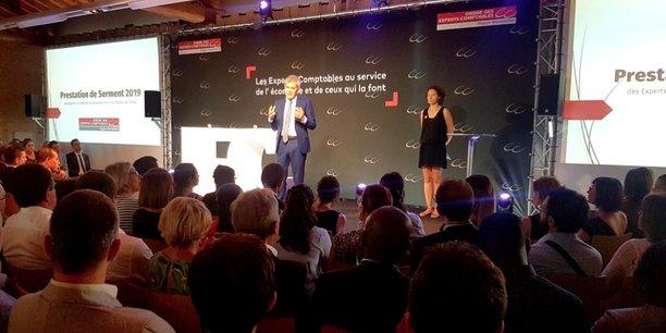 Philippe Lamouroux, président de l'OEC Montpellier, lors de la prestation de serment tenue le 16 juillet à Montpellier