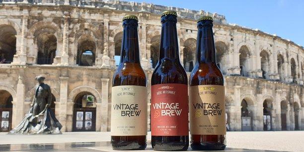 La gamme Vintage Brew est la 1e création de la Brasserie des Canaux