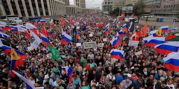 Manifestation a moscou apres le rejet de candidatures d'opposants[reuters.com]