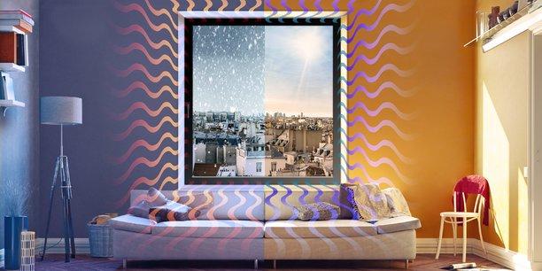 Technal a mis au point une fenêtre avec une pompe à chaleur intégrée pour remplacer un climatiseur et un chauffage.