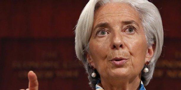 La directrice générale du Fonds monétaire international, Christine Lagarde. Copyright Reuters