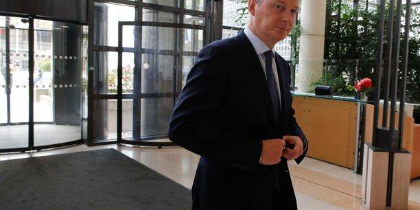 On ne devrait pas mélanger tarifs douaniers et taxe digitale, a estimé Bruno Le Maire, réagissant aux menaces de Donald Trump sur la filière viticole française en représailles de la taxe Gafa.