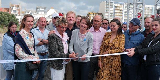 L'inauguration du village de la fab, le lundi 12 août au Touquet.