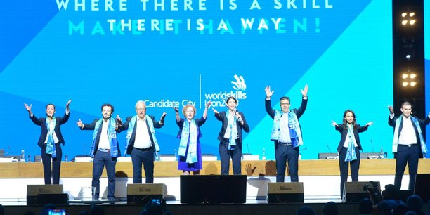 A Kazan, la ministre du travail Muriel Pénicaud est venue défendre la candidature Lyon 2023 aux côtés de la délégation française.
