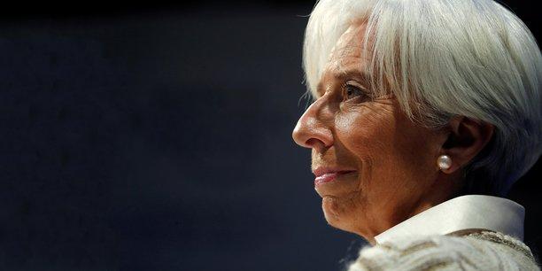 Christine Lagarde, la directrice générale du FMI, le 23 janvier 2019 au Forum économique mondial de Davos (Suisse).