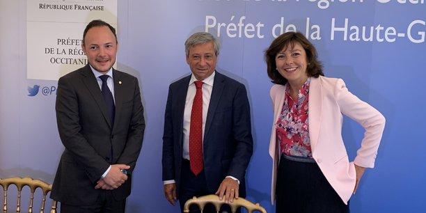 Xavier Espot, Étienne Guyot et Carole Delga ont évoqué ensemble la possibilité d'approfondir les relations entre l'Andorre et l'Occitanie.