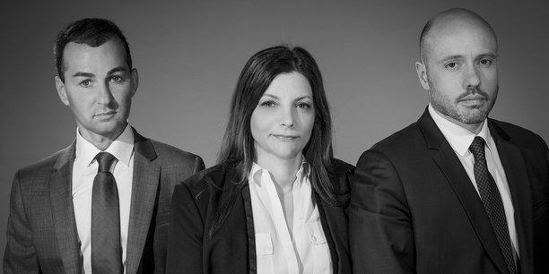 De gauche à droite : Lionel Benhamou, Véronique Baron et Grégorie Moulinier, Associés Fondateurs de La Centrale des SCPI.
