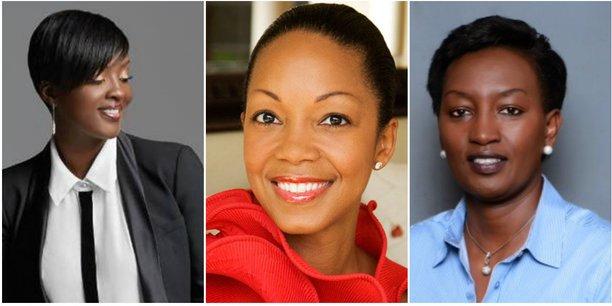 [De gauche à droite] Laetitia N'Cho Traoré, fondatrice de la conciergerie abidjanaise 3W ; Swaady Martin, fondatrice et CEO d'Yswara et Rosette Rugamba, fondatrice et CEO de Songa Africa.