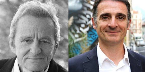 Alain Carignon (sans étiquette) et Eric Piolle (EELV)