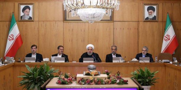 Photo fournie à Reuters via le site Web officiel du président pour annoncer le discours du président iranien Hassan Rouhani lors de la réunion du cabinet à Téhéran prévue le mercredi 18 septembre 2019.
