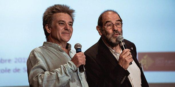 Rémi Roux et Xavier Châtellier, co-présidents de l'URSCOP Occitanie, créée le 20 septembre 2019 depuis Sorèze, dans le Tarn.