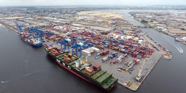 Le port d'Abidjan, la capitale économique de la Côte d'Ivoire.