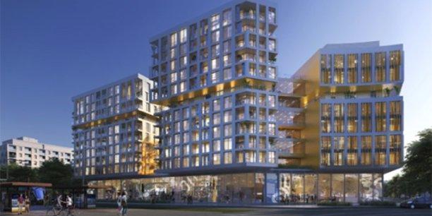 L'immeuble Blasco, dans le quartier Port Marianne à Montpellier, hébergera le 3e espace de l'enseigne de coworking et bureaux Newton Offices.