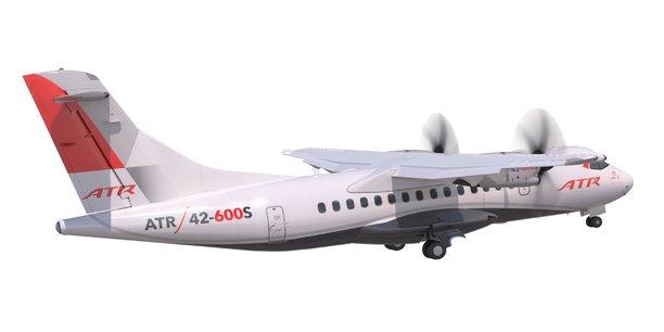 Le nouvel appareil du constructeur régional ATR, l'ATR 42-600S, permet de décoller et d'atterrir sur des pistes de 800 mètres seulement, avec 40 passagers à bord
