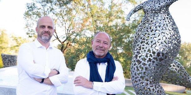 Frédéric André, co-dirigeant et directeur général et Stéphane Gambier,  Président d'Abaques.