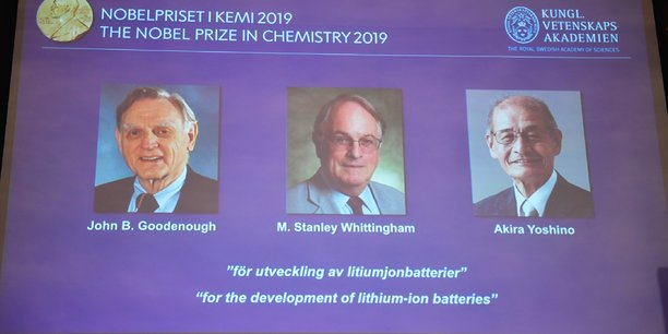 Le nobel de chimie 2019 souligne le developpement des batteries lithium-ion[reuters.com]