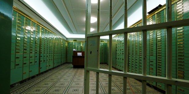 Le coffre-fort désaffecté de l'ancienne Schweizerische Volksbank (Banque populaire suisse), à Bâle. Photo prise le 8 septembre 2017.