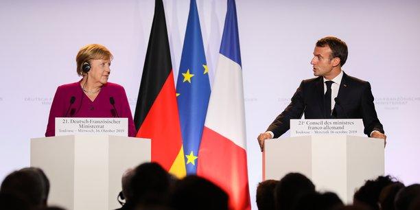 Angela Merkel et Emmanuel Macron, mercredi 16 octobre à Toulouse pour le Conseil ministériel franco-allemand.