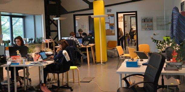 L'équipe de la startup JeStocke.com s'est installée à l'étage du bâtiment, près de Sew & Laine