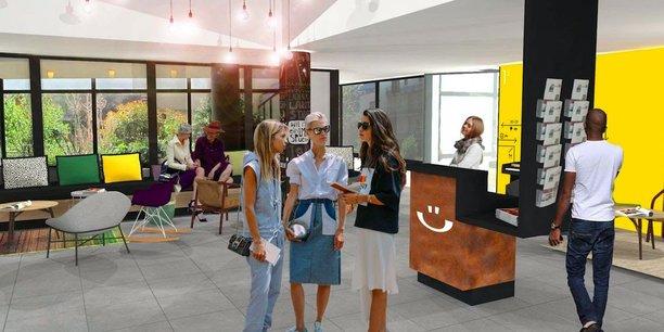 La première résidence de coliving de Privilodges, le Hüb, ouvrira ses portes début novembre au sein du quartier Europole à Grenoble.
