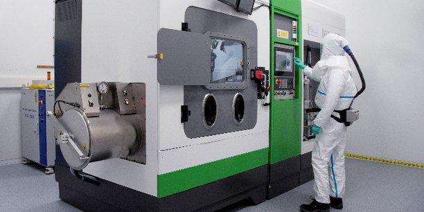Une machine de fabrication additive de l'IRT Saint-Exupéry de Toulouse, technologie jugée prioritaire par Aerospace Valley.