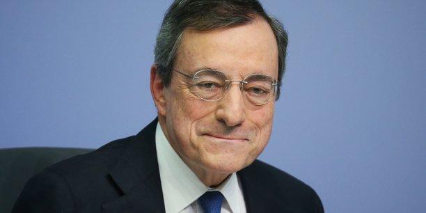 Mario Draghi ce jeudi 24 octobre à Francfort lors de sa dernière conférence de presse à l'issue de la réunion de politique monétaire de la Banque centrale européenne.