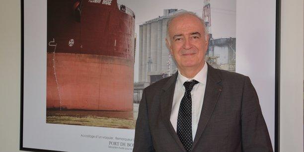 Philippe Dorthe, nouveau président du conseil de surveillance du Grand port maritime de Bordeaux.