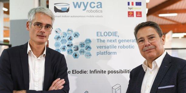 Nicolas de Roquette, président et fondateur de Wyca Robotics et Patrick Dehlinger, directeur général, préparent une levée de fonds.