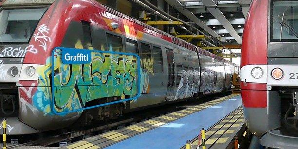 L'IA mise au point par Elter pour la SNCF peut identifier les rames taguées et la surface concernée