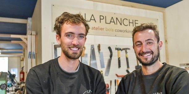 Vincent du Peloux et Clément Belin cofondateurs de La Planche
